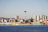 Seattle-Bainbridge Ferry-19 (_futurelandscapes_) Tags: none seattle bainbridgeisland ferry washington transit boat water cityscape skyline autumn sunny bluesky clear bright calm travel vacation city spaceneedle highrise industrial waterfront pier pikeplace