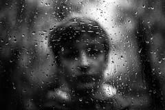 Raining again (PaxaMik) Tags: rain rainingdays raindrops rainingday pluie autumn portraitnoiretblanc portrait frenchportrait drops silverdrops teen melancholy gouttes