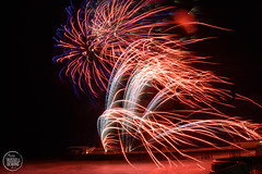 Cromer Fireworks 2019 (12 of 12) (russelldewing) Tags: cromer norfolk north fireworks pier rjd photos rjdphotos colour nikon d3200 russell dewing night reflections sparkle glitter photo photography