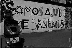 SeNtImOs (ericbaygon) Tags: bike moto vespa vélomoteur lisbon lisboa lisbone portugal nikon d750 graffiti mot word wall mur art artiste point dessin