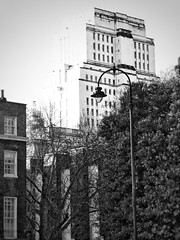 Towering over Russel Sq. – not Washington Sq. … (marc.barrot) Tags: bw monochrome architecture building uk wc1 london holborn bloomsbury senatehouse