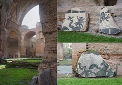Inside the Baths of Caracalla (Insher) Tags: italy italia rome roma severan architecture bathsofcaracalla antica ruins mosaic