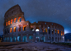 That night standing in front of the Colosseum....[Explored] (FPL_2015) Tags: rome photographystyles architecture cityscape