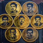 Badges of seven freedom fighters, Swaran monument, University of Chittagong thumbnail