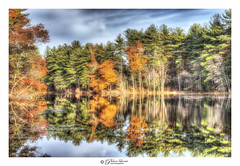 Holt Autumn Series (14) (Pearce Levrais Photography) Tags: pond water reflection landscape autumn autumnal autumnleaves foilage fall canon hdr picoftheday photooftheday explore nh newhamphshire cloud beautiful serene serenity color colorful
