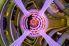 Heaven on earth (Goran Bangkok) Tags: iconsiam bangkok thailand shopping mall reflection reflections tourism indoor mirror purple colorful colors ceiling atrium architecture interior