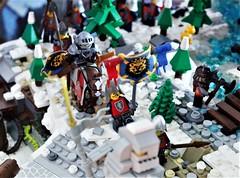 Krakks' Mine - Winter Is Coming 08 (YgrekLego) Tags: lego fantasy dwarf dwarves elves winter is comig snow castle dungeon dragon giant minifig