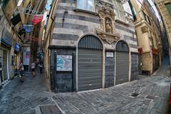 Genova liguria italia (michael_obst) Tags: cinqueterre liguria genua genova bellaitalia street building zenitar fisheye zenitar16mm buildingfront
