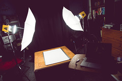 the setup [Day 3633] (brianjmatis) Tags: lights photoaday photography strobes garage light alienbees studio project365 sanluisobispo california unitedstates us