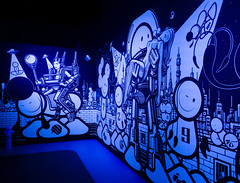 Space Jam (MAKER Photography) Tags: graffiti art drawing wall ultraviolet fire hydrant smartphone phone oneplus 3 munich germany london police tlp magic city