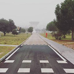 "A misty morning at ESAC. The VIL-2 antenna seems such a long way away... #youresa <a style=""margin-left:10px; font-size:0.8em;"" href=""http://www.flickr.com/photos/56791810@N02/44574063390/"" target=""_blank"">@flickr</a>"