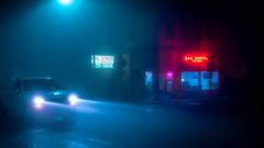 Bail Bonds (llabe) Tags: bailbonds truck fog night tacoma washington nikon d750
