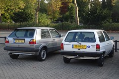 1990 Golf and 1988 Polo (harry_nl) Tags: netherlands nederland 2018 eindhoven volkswagen golf polo tt91df yr59hx sidecode4