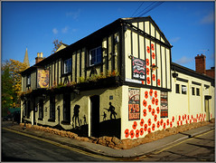 Merchant's (Jason 87030) Tags: november 1918 2018 soldier war ww1 poppies painting battle history pub inn merchants warks warwickshire architecture design nice respect honor honour casualties remember shot shoot sandbags decor armistice beers beer sunday
