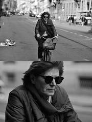 [La Mia Città][Pedala] (Urca) Tags: milano italia 2018 bicicletta pedalare ciclista ritrattostradale portrait dittico bike nikondigitale séta biancoenero blackandwhite bn bw 117219
