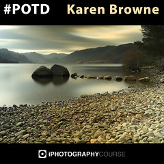 Karen Browne POTD (iPhotographyCourse) Tags: potd landscape water lakesize lakeside pebble beach slow shutter calm peaceful serene zen lake district cumbria england uk countryside mountains stones rocks contrast texture iphotography photographytutorial photographer photography learn learnphotography iso elearning exposure learning onlinelearing online onlinephotography onlineclass tutorial training editing black friday thanksgiving competition photographycompetition game cyber monday