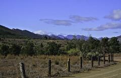 Flinders Ranges (Kat-i) Tags: australien flindersranges southaustralia au australia flinderskette gebirgszug mountainrange nationalpark naturschutzgebiet berge mountains natur nature outside himmel sky zaun fence bume trees büsche bushes nikon1v1 kati katharina