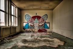.. (LaR0b) Tags: owl school ue urban urbex exploring exploration decay abandoned lar0b lost hdr highdynamicrange graffiti art dzia