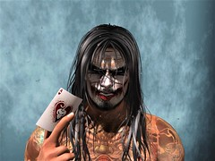 """"""" The Face of Rage """" (maka_kagesl) Tags: second secondlife sl life virtual videogame game gaming joker paint clown evil horror scary creepy portrait"""