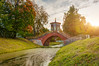 Cross bridge (Shumilinus) Tags: 1855mmf3556 2018 autumn nikond300s park trees sky clouds water canal sunlight sunset sunbeam grass bridge footbridge