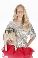 A dutch girl with her pug! (carla ghysels) Tags: petphotography pet pug little dog dogs k9 studiophotography studio sexywoman highkey carlagphotography