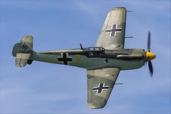 Hispano HA-1112-M1L Buchon - 02 (NickJ 1972) Tags: cosby victory show airshow 2018 aviation hispano messerschmitt ha1112 bf109 me109 buchon gawhm yellow 7