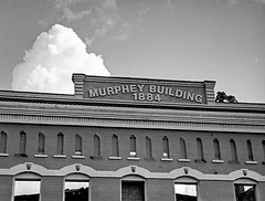 Murphy Building on Minolta 16mm film (Neal3K) Tags: barnesvillega filmcamera georgia kodakektar100 minolta16 subminiaturecamera