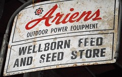 Ariens sign (dwheel41) Tags: rusty crusty vintage antique old dented rusted damaged ariens feed seed store wellborn power equipment
