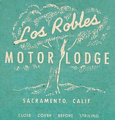 Los Robles Motor Lodge (hmdavid) Tags: vintage matchcover matchbook midcentury art illustration advertising monarch