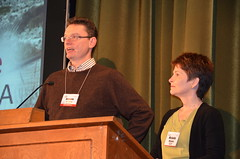 Conference co-chairs Antonio Di Pietro and Michelle Momany (afagen) Tags: california pacificgrove asilomarconferencegrounds montereypeninsula asilomar gsa geneticssocietyofamerica fungalgeneticsconference conference antoniodipietro michellemomany