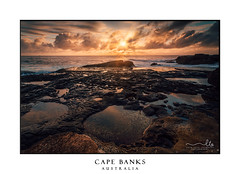 Morning sunrise from Cape Banks Sydney (sugarbellaleah) Tags: sunrise horizon sunbeams rays sunrays clouds ocean seascape landscape nature australia background destination scenery travel tourism sky wonderful awe beautiful warm golden sun spring season waves rockpools reflection erosion pretty tranquil glorious amazing beach weekend wandering