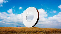 Staccioli Art - Tuscany (dl07portfolio) Tags: volterra tuscany italy countryside staccioli art landscape circle sculpture landart field