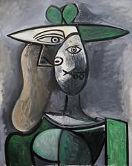 Frau mit grünem Hut / Woman with green hat (rudi_valtiner) Tags: pablopicasso fraumitgrünemhut womanwithgreenhat gemälde painting kunst art sammlungbatliner albertina wien vienna österreich austria autriche surrealismus expressionismus modernekunst modernart frau woman