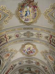 Plafond peint (Sur mon chemin, j'ai rencontré...) Tags: séville andalousie espagne españa centro basiliquedelamacarena basilique eglise eglisecatholique plafondpeint plafond stylenéobaroque néobaroque rafaelrodríguez