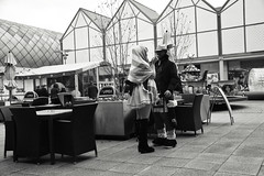 Quick Smoke (Bury Gardener) Tags: bw blackandwhite monochrome mono 2018 england eastanglia uk britain burystedmunds suffolk streetphotography street streetcandids snaps strangers candid candids people peoplewatching folks arc thearc