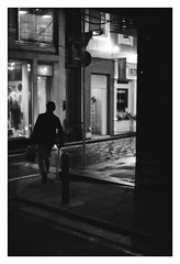 *Footsteps at night. (niko**) Tags: leica leicam2 canon50mmf095 ilford xp2400 135 35mm filmphotography yokohama