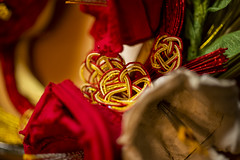 """<2019 is the year of """"Wild Boar"""" in Japanese zodiac >Y_Wreathes_20181231_007 (Napochka Haruko ( in Japan )) Tags: paper flower wreath mizuhiki japanese traditional ribbon new year decoration handmade はるこ なぽちか お正月 水引き 和紙 イノシシ しめ縄 お正月リース 梅結び"""