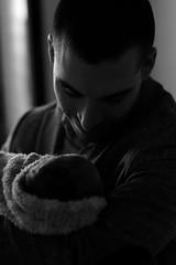 Lionel & Chloé (Garry Shu) Tags: france french man baby bw nb blackwhite noirblanc light natural lumière naturelle love dad daughter nikon d750 nikond750 nikkor 85mm art instagram amour bébé newborn portrait blackandwhite