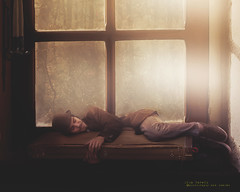 Zach (olgavareli) Tags: olga vareli surreal window stray person man sleeping rain forest house magic realism