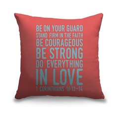 1 Corinthians 16 13 14 Scripture Art In Teal And Coral - Handlettered Bible verse reading Be on your guard; stand firm in faith; be courageous, be strong, do everything in love.   Check out our website: https://spaceplug.com/1-corinthians-16-13-14-scriptu (spaceplug) Tags: photooftheday bible canvas shop marketplace mood spaceplug buy sell like4like photo home products followus decor pillow canvasdemand photography follow4follow