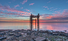 Paving The Way (nicklucas2) Tags: seascape beach lepe dolphin cloud lowtide isleofwight sea seaweed solent dawn