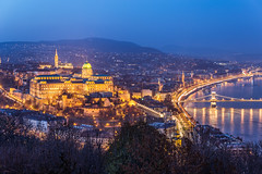 Buda castle at blue hour (Vagelis Pikoulas) Tags: castle budapest buda canon 6d view hungary city cityscape landscape architecture travel holidays europe danube river hungarian