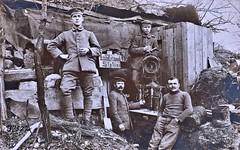 german Signal corps  blinker station. German negative ca1914 NARA111-SC-37522-ac (over 14 MILLION views Thanks) Tags: germanarmy ww1 worldwari france 19141918