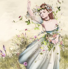 ☼irrISIStible creation☼ARWEN SECRET GARDEN OUTFIT☼ (l.Irina) Tags: fantasy arwen movie enchantment spring flowers gown medieval roleplay irrisistible shop clothes dress mesh outfit costume headpiece secret garden maitreya belleza slink hourglass fancy necklace