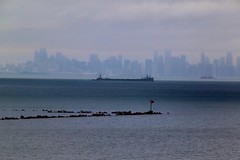 Morning Barge Move out of Calumet (knutsonrick) Tags: