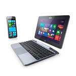 Window Mobile Phone&Tablet, attachable Keyboardの写真