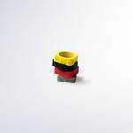 RING MAKE FROM RUBBER IN FIVE COLORS.の写真