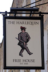 Pub sign for the Harlequin, Islington. (Peter Anthony Gorman) Tags: pubsigns harlequin islingtonpubs londonpubs sign