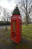 Festive Phone Box (PLawston) Tags: uk britain england surrey north downs compton phone box christmas tree festive