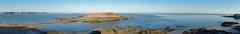 Morning from the ramparts - Saint Malo (Neil Pulling) Tags: panorama vista morning france bretagne sea brittany vauban grandbé saintmalo